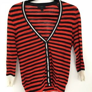 JCrew Striped Cardigan